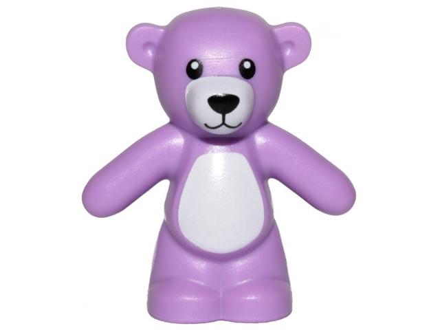 Figurka LEGO Růžový medvídek zepředu