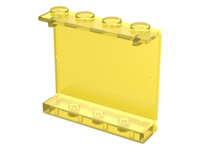 1 x Lego 4215 Panel 1 x 4 x 3 Undetermined Stud Type Yellow