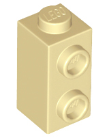 Lego 50 New Reddish Brown Bricks Modified 1 x 1 x 1 2//3 with Studs on 1 Side