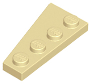 LEGO® Dark Gray Wedge Plate 4 x 2 Right  Design ID 41769