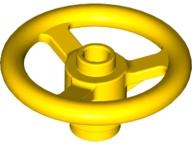 Steering Wheel Small 3 Studs Diameter LIGHT GRAY LEGOS Set of  2  Technic