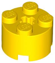 LEGO® Yellow Brick Round 2 x 2 with Axle Hole Part 3941