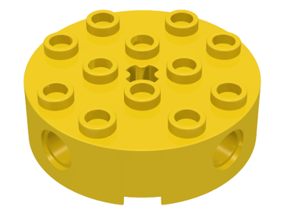 Lego 6222 Brick Round 4 x 4 with 4 Side Pin Holes and Center Axle Hole