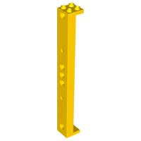2 x NEW Lego Yellow Support 2 x 2 x 13 with 5 Pin Holes PART 91176.