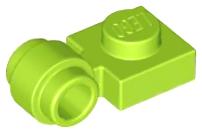 x4 Plate Modified 1x1 clip ring trou anneau magenta 4081b NEUF Lego