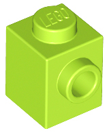 Modified 1 x 1 w Stud on 1 Side 87087 WHITE Brick LEGO Parts~ 6