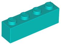 10x 6036238 Brick 3010 LEGO NEW 1x4 Medium Azure Brick