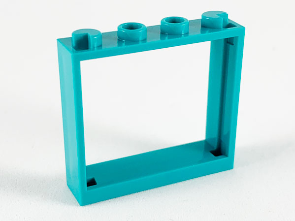 LEGO x 10 Trans-Medium Blue Glass for Window 1 x 4 x 3 plastic