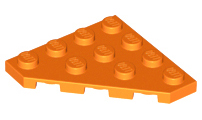 LEGO Parts~4 Wedge Plate 4 x 4 Cut Corner 30503 BROWN