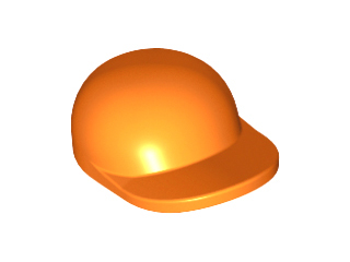 LEGO Orange Minifig Minifigure Cap Hat with Curved Bill