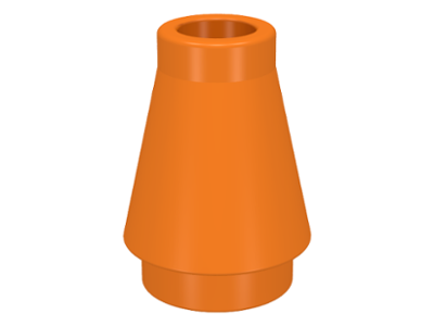 Lego 5 New Green Cone Pieces 1 x 1 with Top Grooves