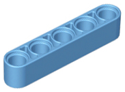Technic 4 Liftarm 1 x 5 Thick 32316 LIGHT BL GRAY LEGO Parts~