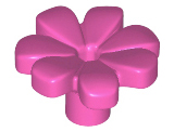 Large Flower with 7 Thick Petals and Pin 32606 Lego 100 Dark Pink New