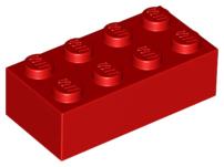 LOT X4 Lego 300126-3001 brique 2x4 NOIR BLACK brick