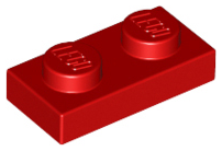 Details about  /LEGO® Red Plate 1 x 2 Design ID 3023