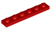 LEGO PART 3666 YELLOW 1 x 6 PLATES x 12