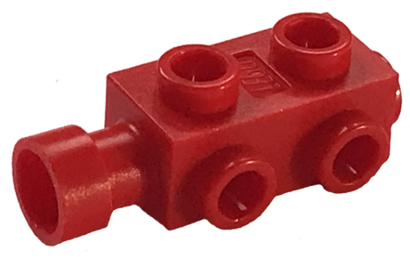 Lego 50 Orange Bricks Modified 1 x 2 with Studs on 1 Side