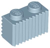 LEGO Lot of 10 Light Bluish Gray 1x2 Grill Brick Pieces