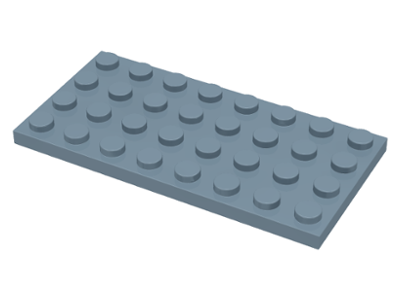 LEGO Lot of 2 Light Bluish Gray 4x8 Plate Pieces