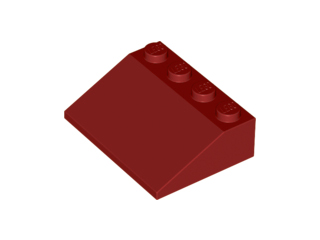 LEGO Parts~ 2 Slope Brick 33° 3 x 4 RED 3297