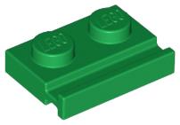 New LEGO Lot of 4 Dark Bluish Gray 1x2 Door Rail Plate Pieces