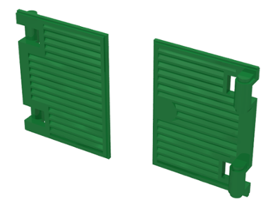 LEGO 25 GREEN WINDOW 1 X 2 X 3 SHUTTER PIECES PARTS
