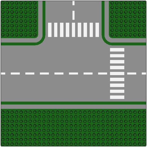 LEGO Bauplatte Gerade grün Green Baseplate Road 32x32 6-Stud 44336pb01