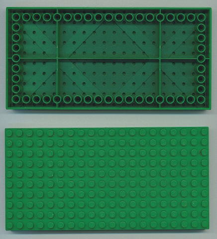 PART 700ED GREEN 10 x 20 BASEPLATE  BOTTOM TUBES AROUND EDGES