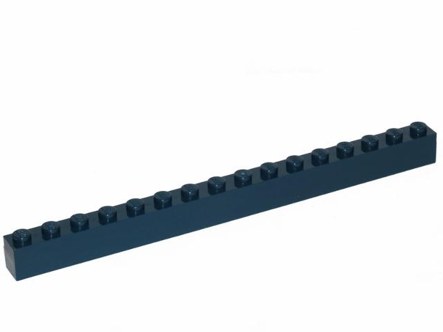 Lego dark blue brick 1x16 2465 ,5 parts