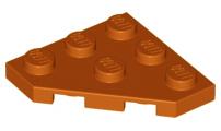 LEGO Lot of 4 Dark Blue 3x3 Cut Corner Plates