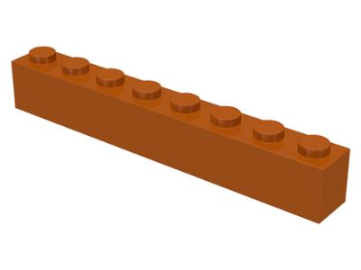 LEGO Lot of 8 Black 1x8 Brick Pieces