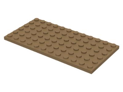 New Genuine Lego 1x Dark Tan Plate 6 x 12 Studs