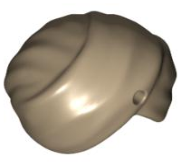 Lego Black Turban Headgear w// Hole NEW