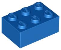 Lego 3002 x8 brique rouge brick 2x3 red