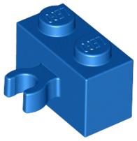 x1 Lego 30237b Brick 1 x 2 with Vertical Clip 95820 Open /'O/' clip