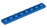LEGO 10 x Basisplatte beige Tan Plate 1x8 3460 4114324