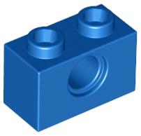 LEGO Lot Of 99 Dark Azure Blue 1x2 Bricks