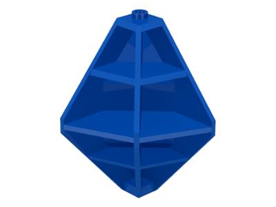 LEGO PART 4737 BLACK PANEL 4 X 4 X 6 CORNER CONVEX RIBBED SPACE M:TRON BLACKTRON