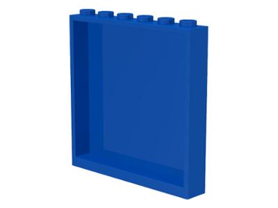 Lego TRANSPARENT LIGHT BLUE 1x6x5 Panel Lot of 4 # 59349