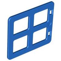 Blue w// white Lego Duplo Windows w// panes 2