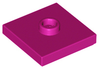 Modified 2 x 2 with Groove and 1 Stud Center Jumper LEGO 10 Dark Purple Plates