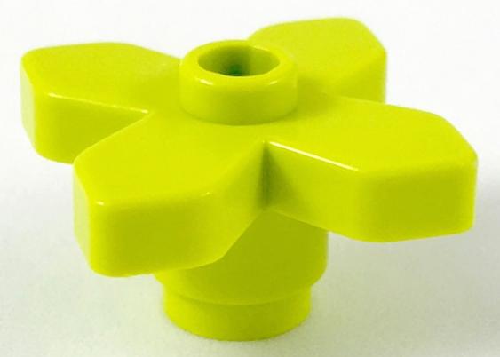 LEGO 4727 2 x PLANT FLOWER 2 x 2 ANGULAR BRIGHT GREEN