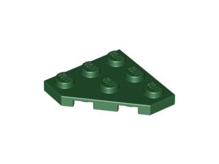 LEGO 4 Part 2450 3x3 Light Gray Wedge Plate 3x3 Cut Corner