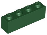 Brick 1 x 4 in Green 10x Lego part no 3010