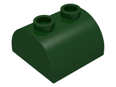 LEGO 15 x Bogenstein schwarz Black Slope Curved 2x2x1 Double Two Studs 30165