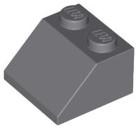 4x slope brique pente incliné 45 2x1 triple gris//light b gray 15571 NEUF Lego