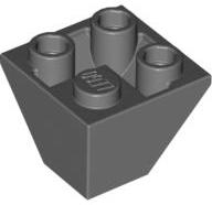 20x Lego Dachstein Rosso 45° 2x2 Tegole Obliquo Pietre 35277 3039
