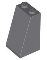 Undetermined Stud Type 1 X Lego 3684 Slope 75 2 x 2 x 3 Black