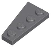 plaque 4 x 2 droite LEGO 41769 Coin Jaune Blanc Bleu Bleu Rouge foncé