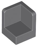 LEGO PART 6231 LIGHT GREY 1 x 1 x 1 CORNER PANELS x 6